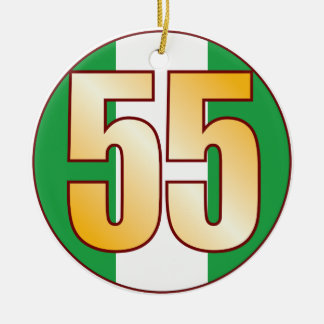 55 NIGERIA Gold Ceramic Ornament