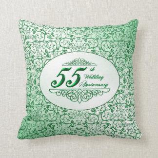 55.o Almohada de tiro del aniversario de boda