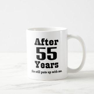 55.o Aniversario (divertido) Taza De Café