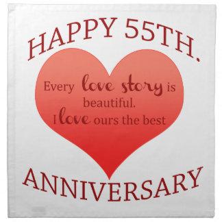 55.o. Aniversario Servilleta