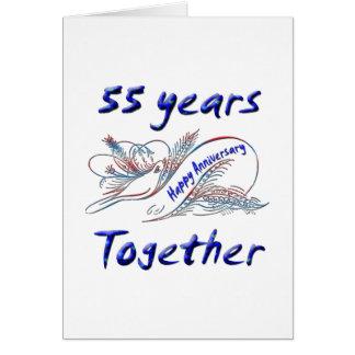 55.o. Aniversario Tarjeta De Felicitación