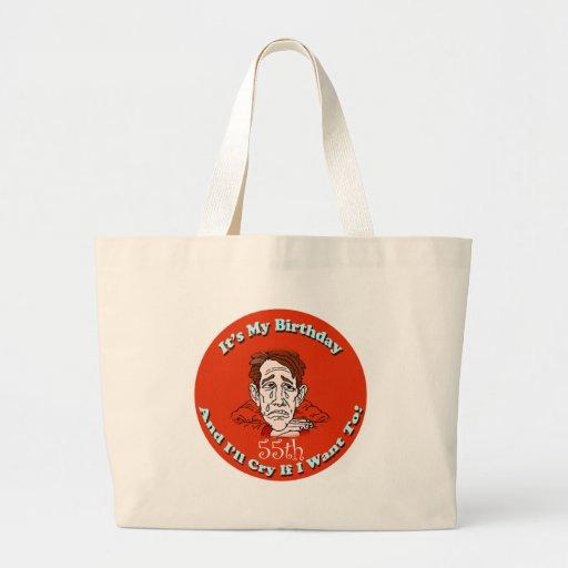 55.o Camisetas y regalos del cumpleaños Bolsa Tela Grande