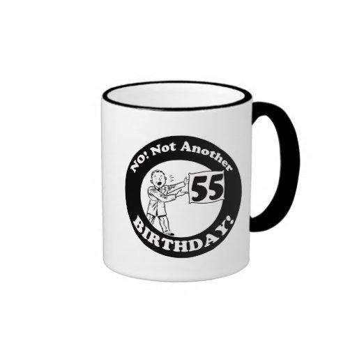 55.o Camisetas y regalos del cumpleaños Taza De Café