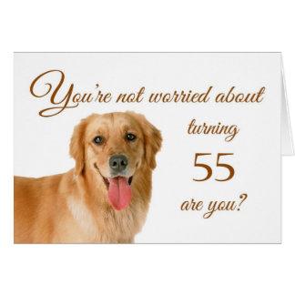 55.o cumpleaños feliz, laboratorio preocupante tarjeta de felicitación