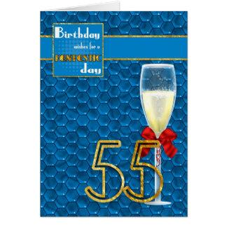 55.o cumpleaños - tarjeta de cumpleaños geométrica
