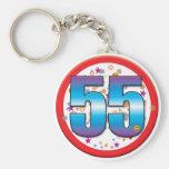 55.o Cumpleaños v2 Llaveros Personalizados