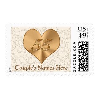 55.o El aniversario de boda sella USPS Sellos