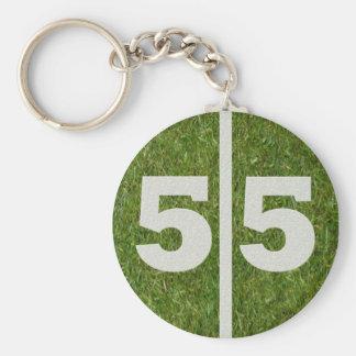 55.o Favor de la fiesta de cumpleaños Llavero Redondo Tipo Pin