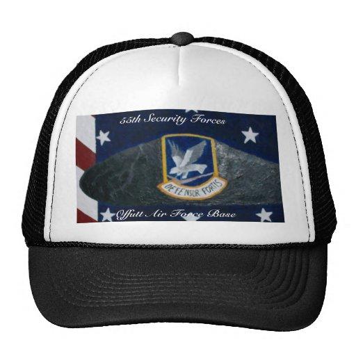 55.o Fuerza de seguridad, fuerza aérea de Offutt… Gorros