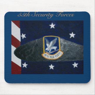 55 o Fuerzas de seguridad Alfombrilla De Ratones
