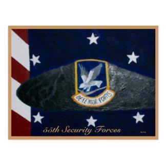 55.o Fuerzas de seguridad Tarjetas Postales