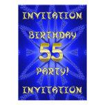 55.o Invitación de la fiesta de cumpleaños