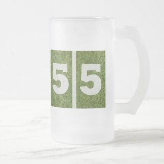 55.o Taza de cristal adaptable del fútbol de la