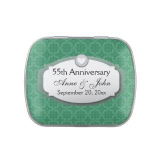 55.o Verde esmeralda Z28 del aniversario Jarrones De Dulces