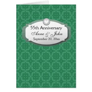 55.o Verde esmeralda Z28 del aniversario Tarjeta Pequeña