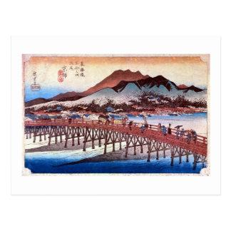 55. Ohashi Sanjo, Hiroshige Postcard
