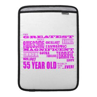 55.os cumpleaños cincuenta y cinco más grande rosa funda  MacBook