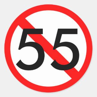 55 Speed Limit Sticker