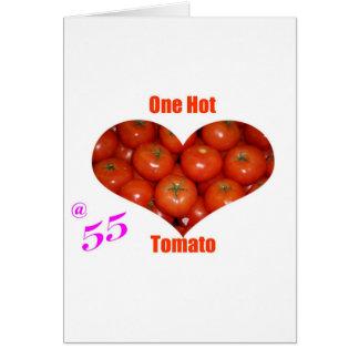 55 un tomate caliente tarjeta de felicitación