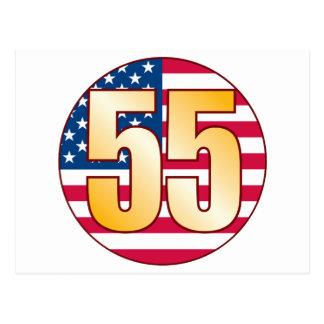 55 USA Gold Postcard