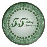 55 Wedding Anniversary Plate
