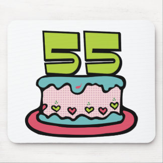 55 Year Old Birthday Cake Mouse Pad