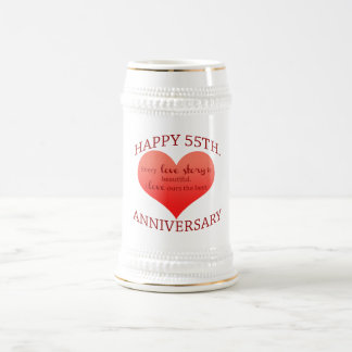 55th. Anniversary Beer Stein