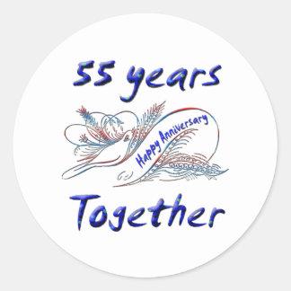 55th. Anniversary Classic Round Sticker