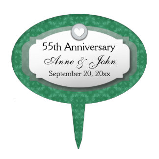 55th Anniversary Emerald Green Z28 Cake Topper