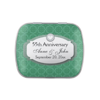 55th Anniversary Emerald Green Z28 Jelly Belly Candy Tins