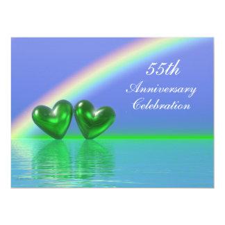55th Anniversary Emerald Hearts Card
