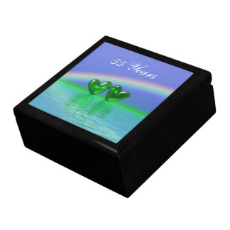 55th Anniversary Emerald Hearts Gift Box