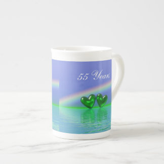55th Anniversary Emerald Hearts Tea Cup