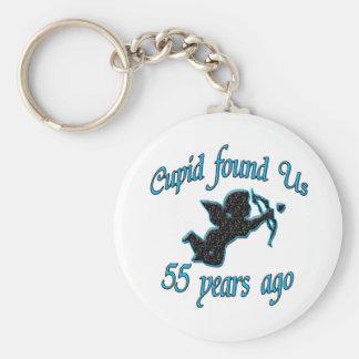 55th. Anniversary Keychain