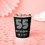 "[ Thumbnail: 55th Birthday — Art Deco Inspired Look ""55"" + Name ]"