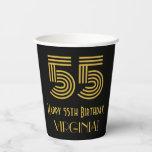 "[ Thumbnail: 55th Birthday: Art Deco Inspired Look ""55"" & Name ]"