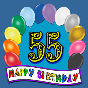 55th birthday balloons gifts on zazzle