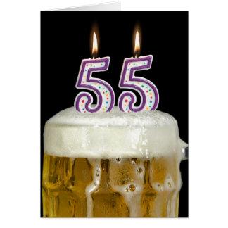 55th Birthday Beer Card