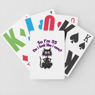 55th Birthday Cat Bicycle Poker Cards
