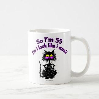 55th Birthday Cat Gifts Coffee Mug