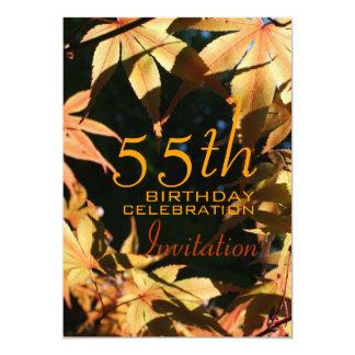55th Birthday Celebration Autumn Custom Invitation