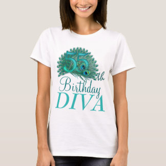 55th Birthday Diva Shirts