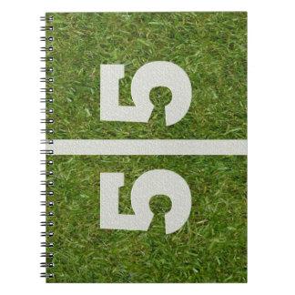 55th Birthday Football Field Notebook