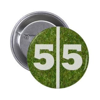 55th Birthday Football Yard Button