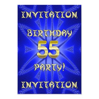 55th Birthday party invitation