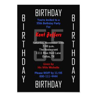 55th Birthday Party Invitation 55