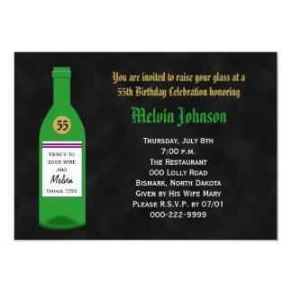 55th Birthday Party Invitation Chalkboard