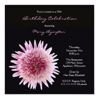 55th Birthday Party Invitation Gorgeous Gerbera
