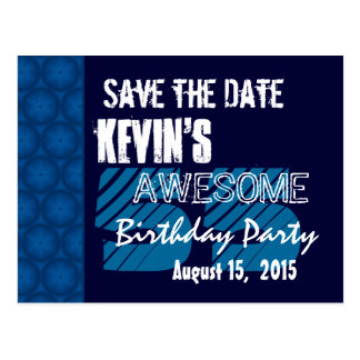 55th Birthday Party Save the Date Blue Midnight Postcard