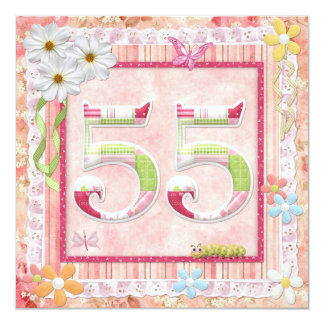 55th birthday party scrapbooking style card